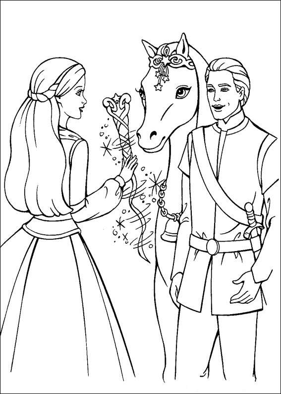 Barbie and The Magic Pegasus Coloring Page 1