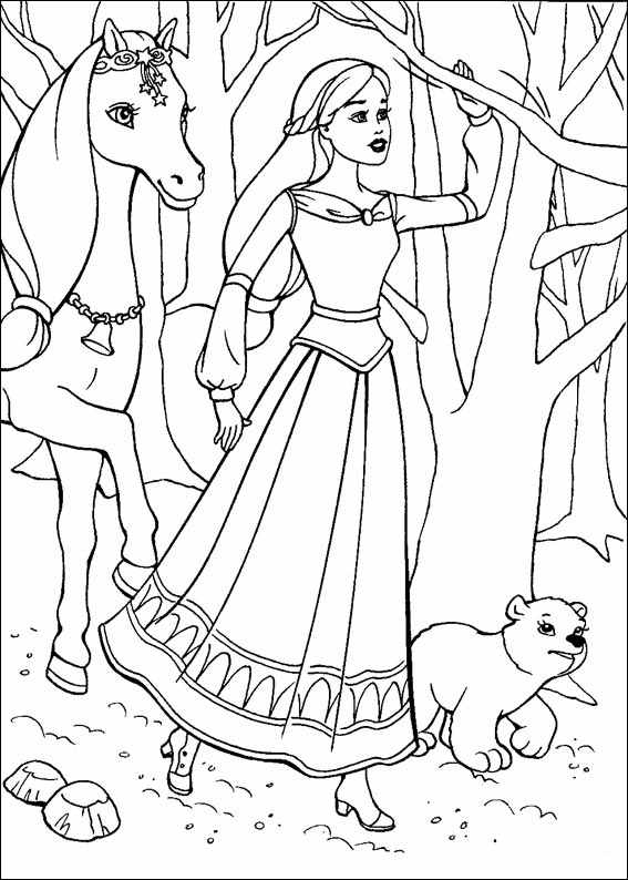 Barbie and The Magic Pegasus Coloring Page 5