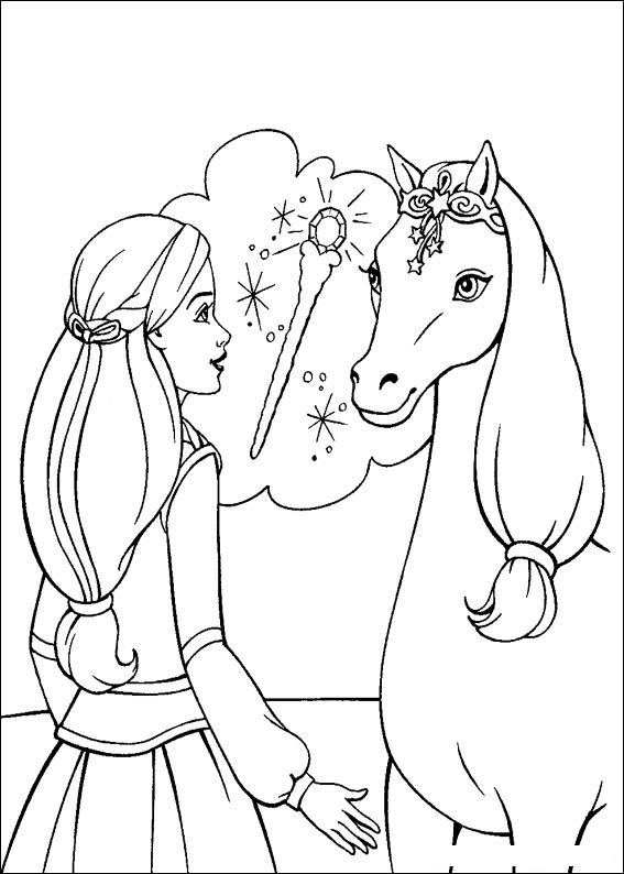 Barbie and The Magic Pegasus Coloring Page 6
