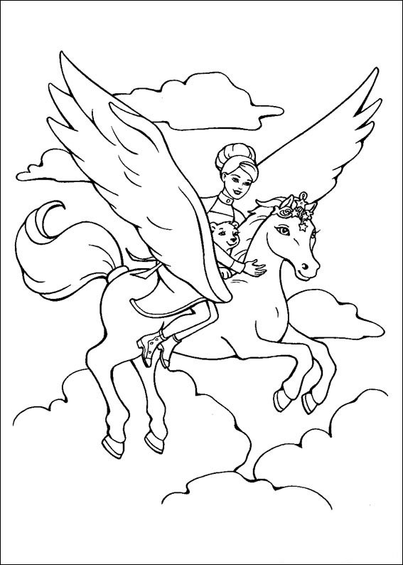 Barbie and The Magic Pegasus Coloring Page 8