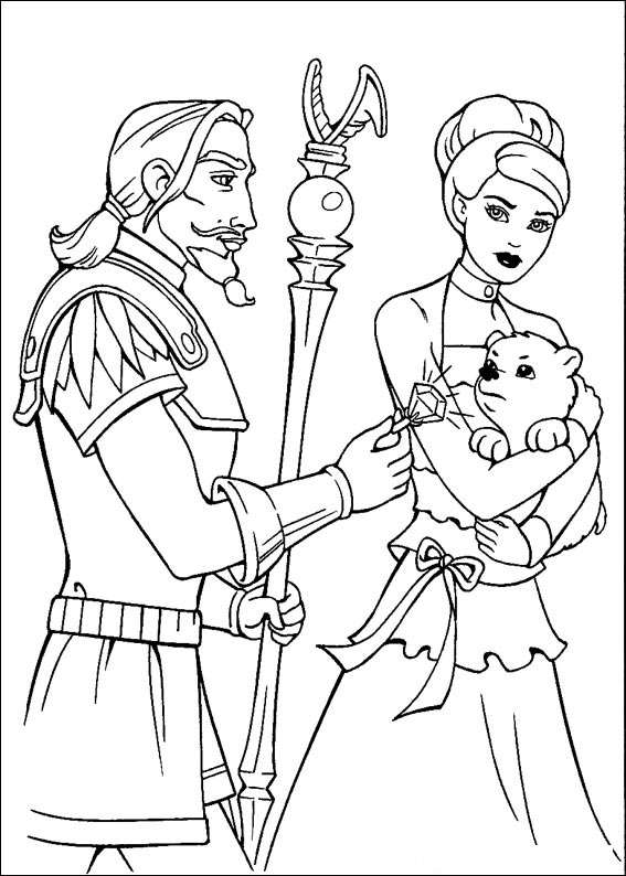 Barbie and The Magic Pegasus Coloring Page 9