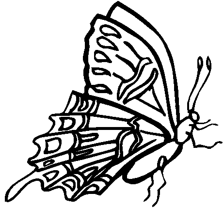 Butterfly Coloring Page 3