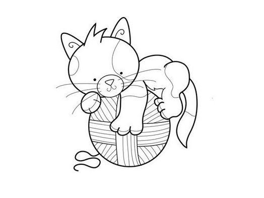 Cat Coloring Page 1