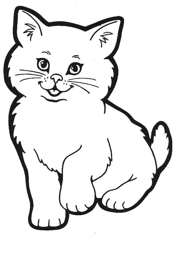 Cat Coloring Page 4