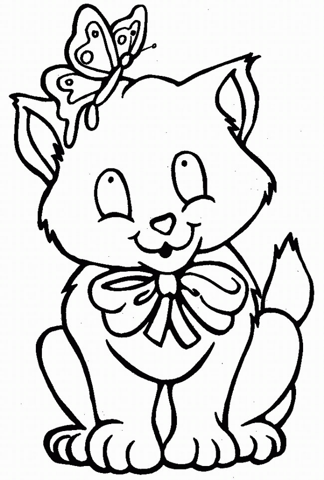 Cat Coloring Page 7
