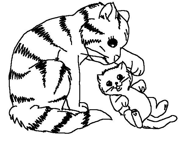 Cat Coloring Page 8