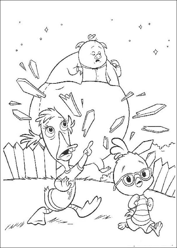 Chicken Little Coloring Page 1
