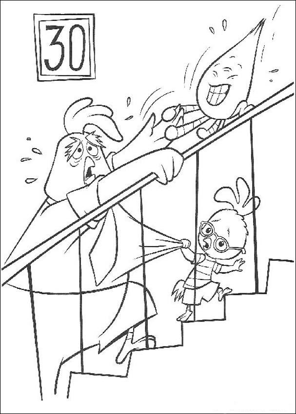 Chicken Little Coloring Page 3