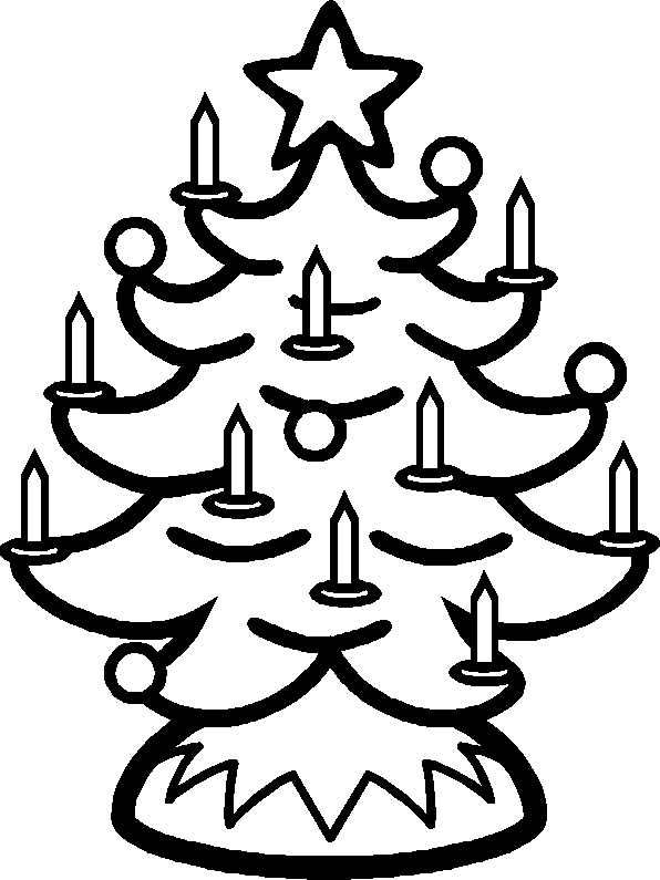 Christmas Tree Coloring Page 3