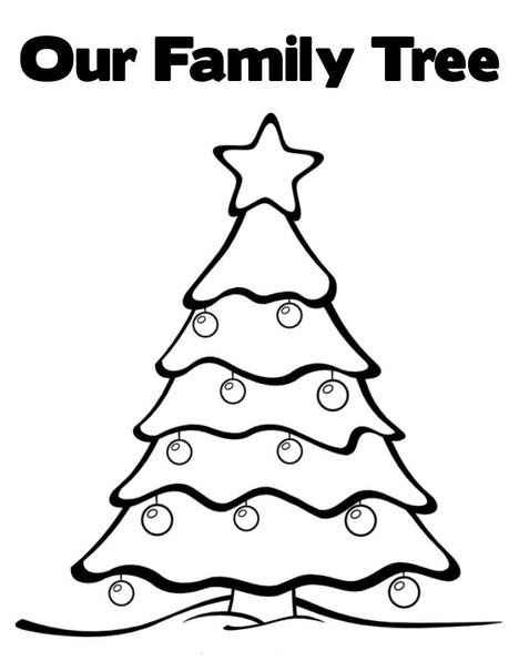 Christmas Tree Coloring Page 6