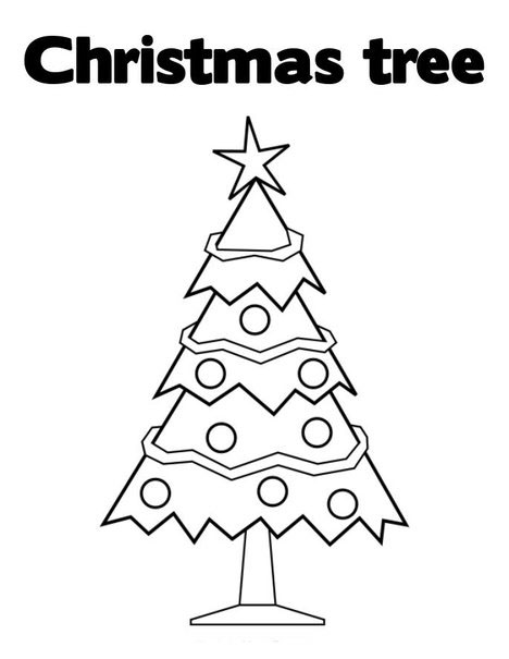 Christmas Tree Coloring Page 7