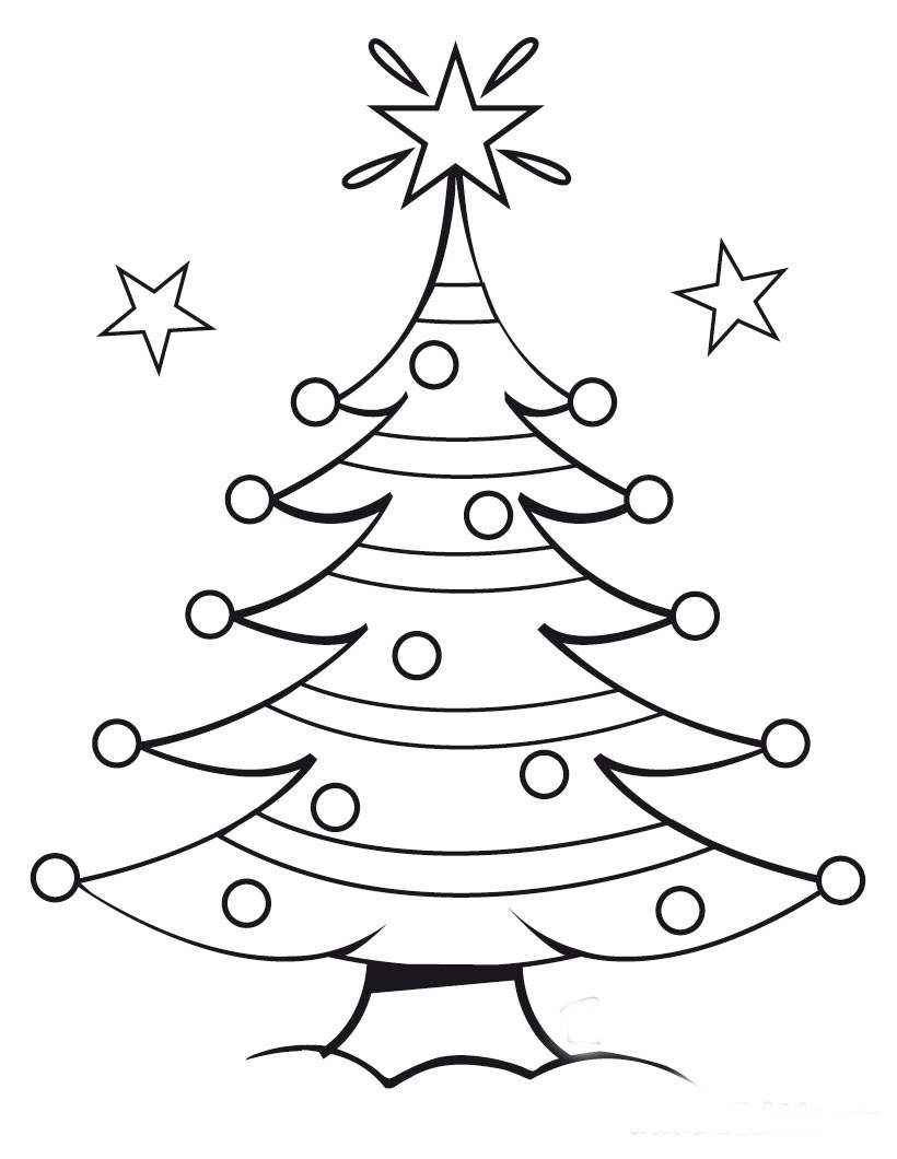 Christmas Tree Coloring Page 8