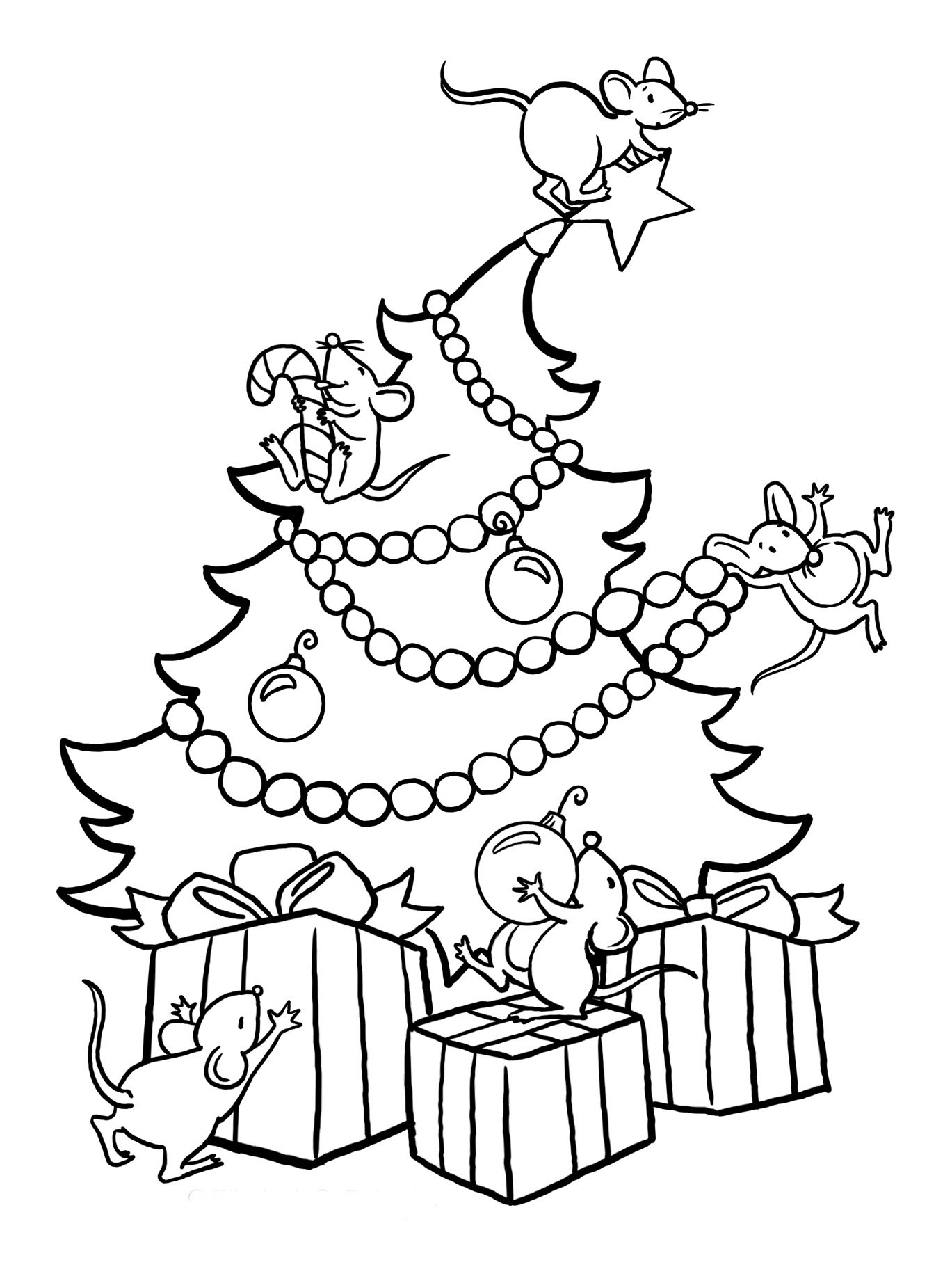 christmas tree coloring page