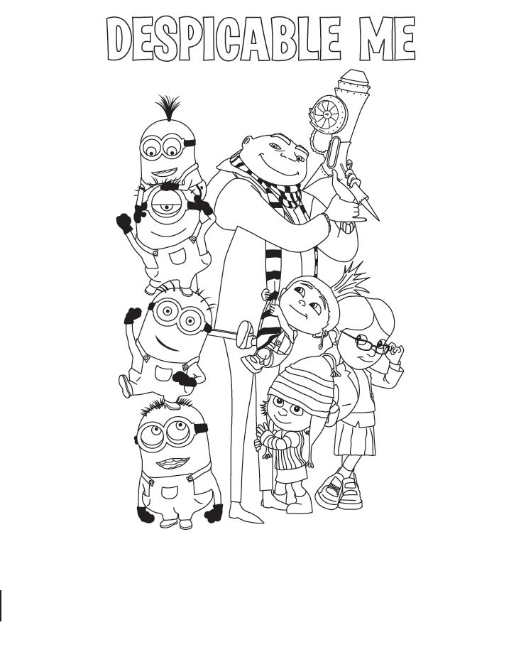 Despicable Me Coloring Page 6