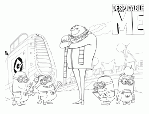 Despicable Me Coloring Page 7