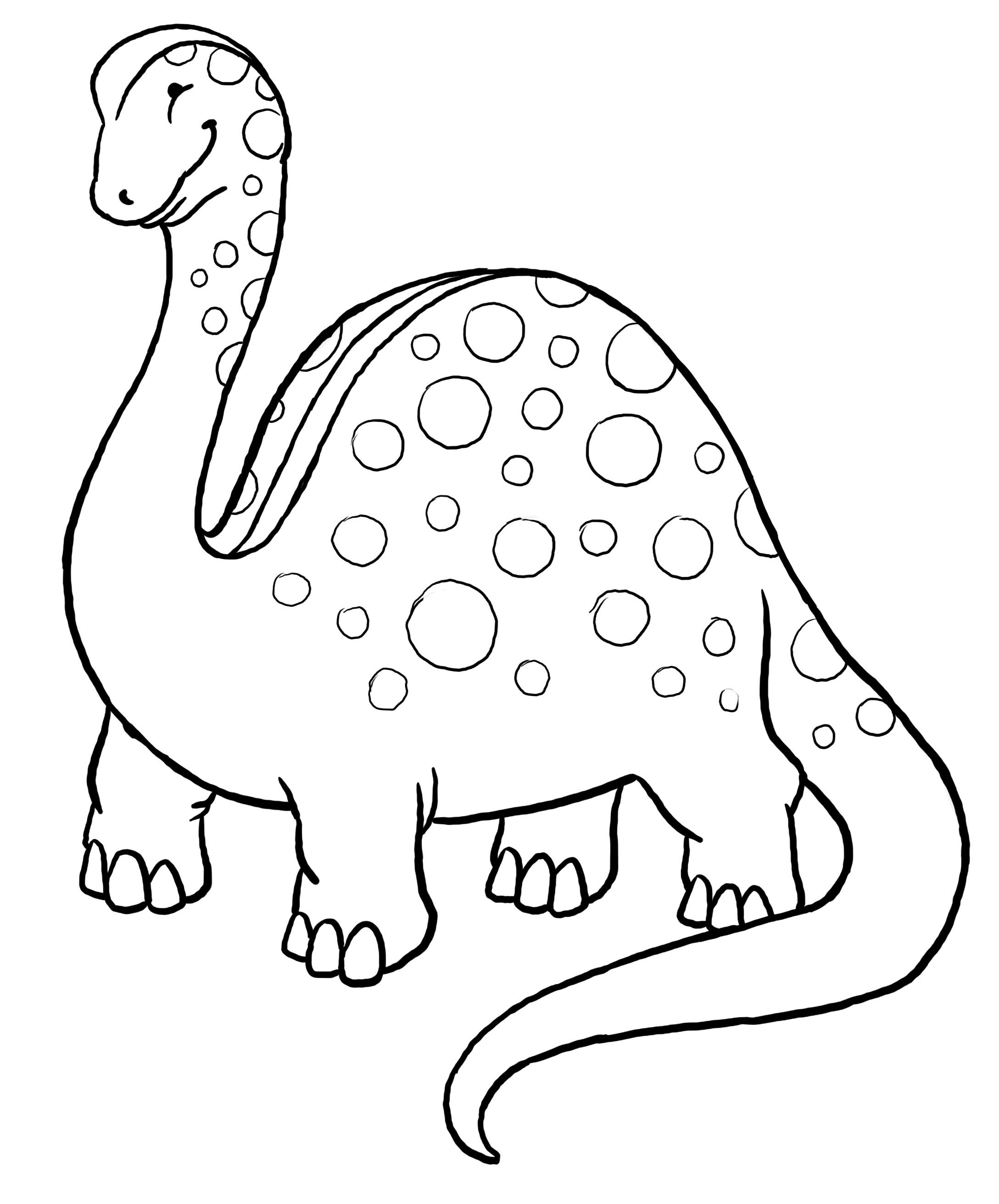 Dinosaur Coloring Page 4