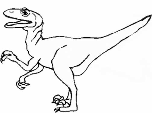 Dinosaur Coloring Page 6