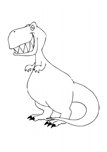 Dinosaur Coloring Page 7