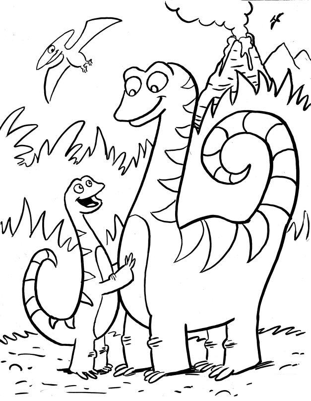 Dinosaur Coloring Page 8