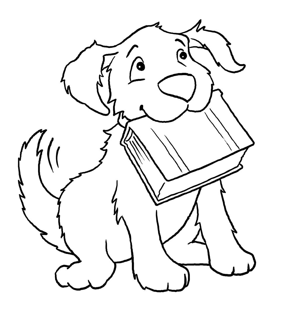Dog Coloring Page 1