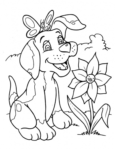 Dog Coloring Page 3