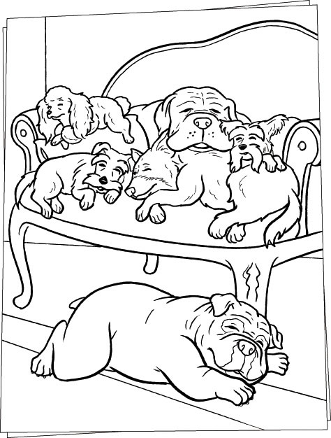 Dog Coloring Page 4