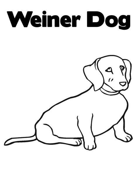 Dog Coloring Page 6