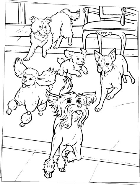 Dog Coloring Page 7