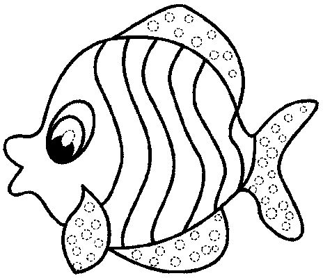 Fish Coloring Page 1