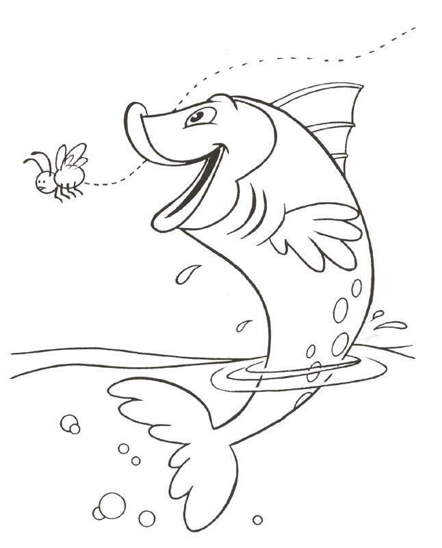 Fish Coloring Page 4