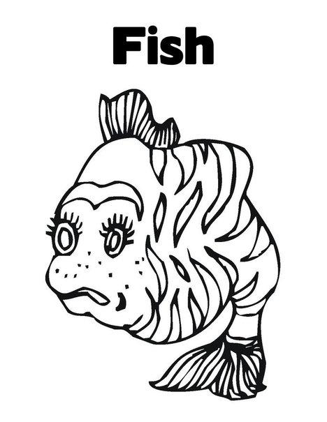 Fish Coloring Page 7