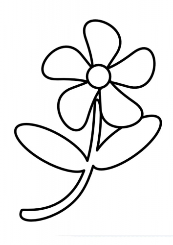 Flower Coloring Page 5