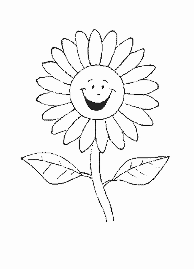 Flower Coloring Page 9