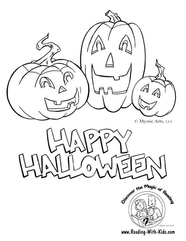 Halloween Coloring Page 5