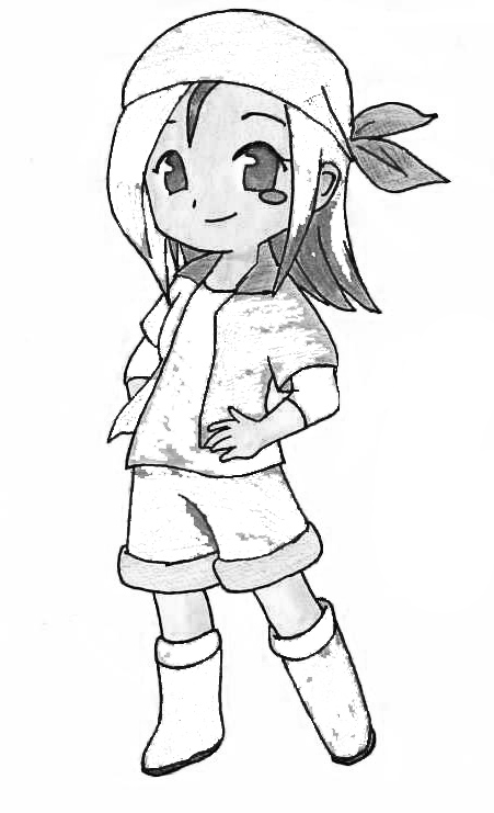 Harvest Moon Coloring Page 7