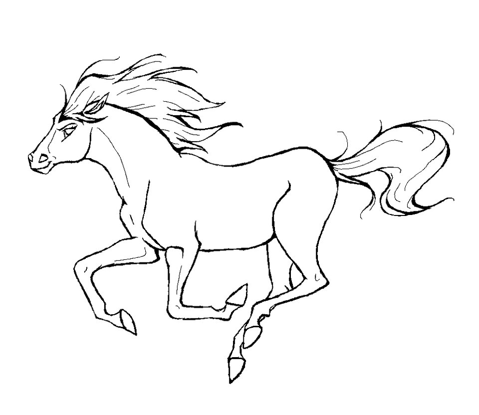 Horse Coloring Page 4
