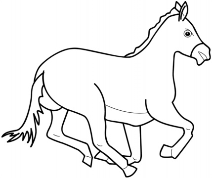 Horse Coloring Page 6