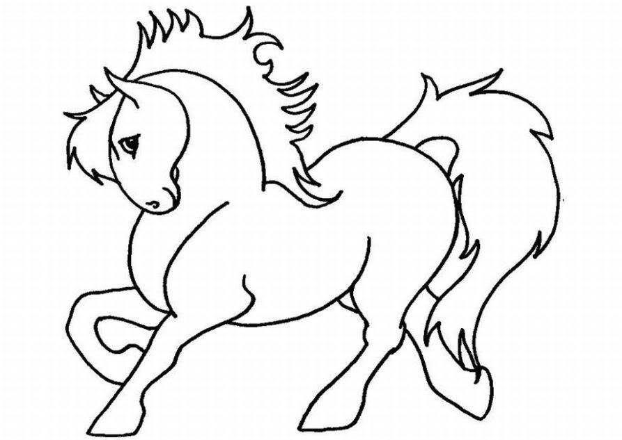 Horse Coloring Page 8