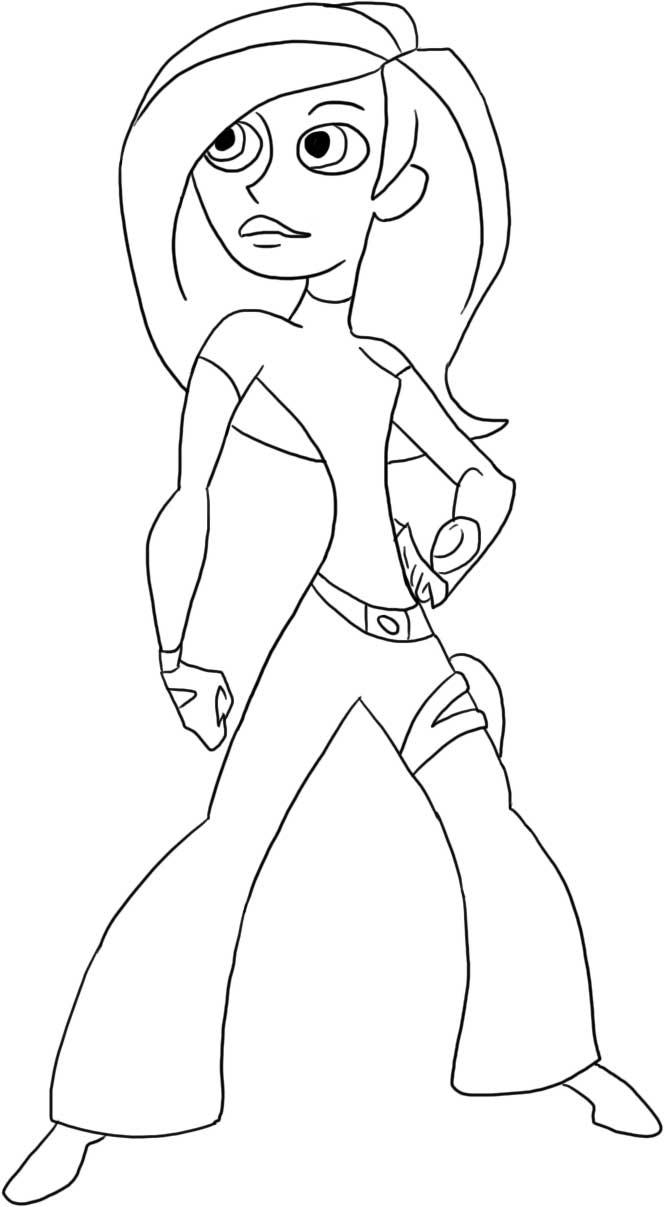 Kim Possible Coloring Page 1