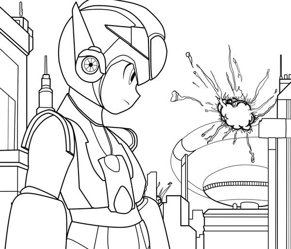 Megaman ZX Coloring Page 2