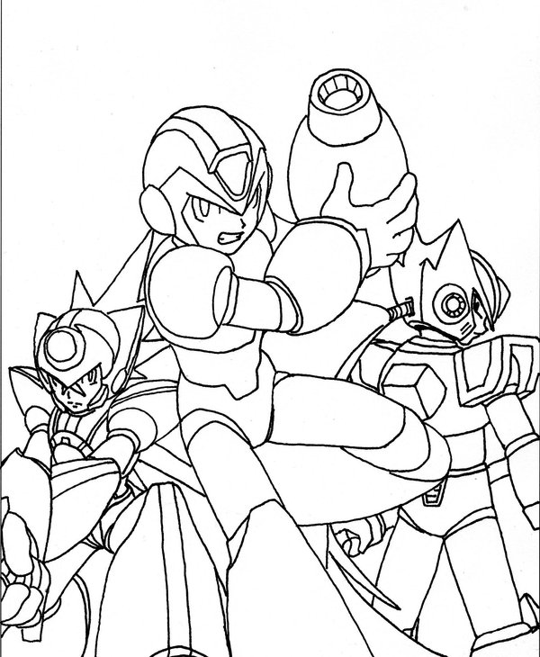Megaman ZX Coloring Page 3