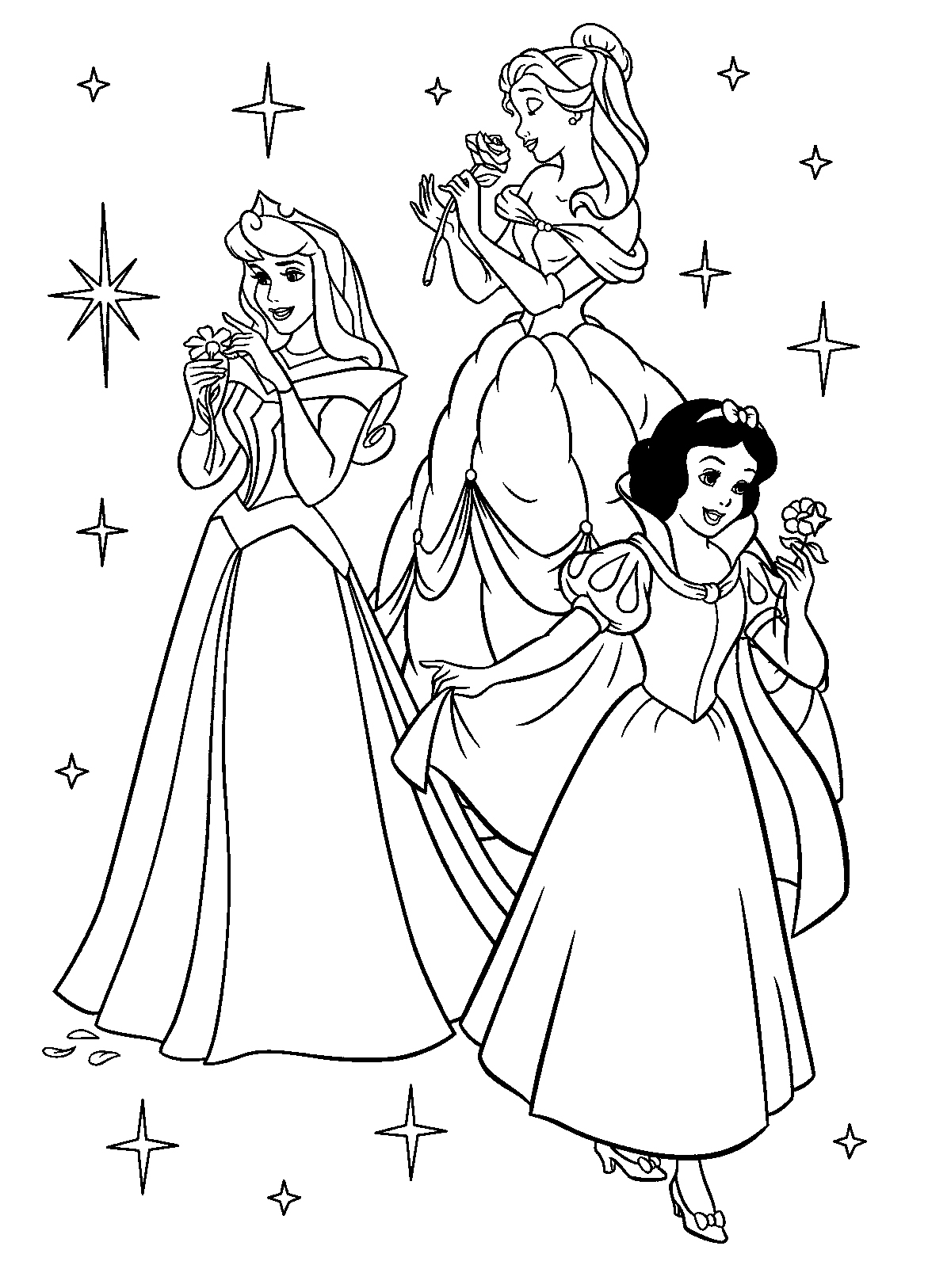 Princess Coloring Page 1