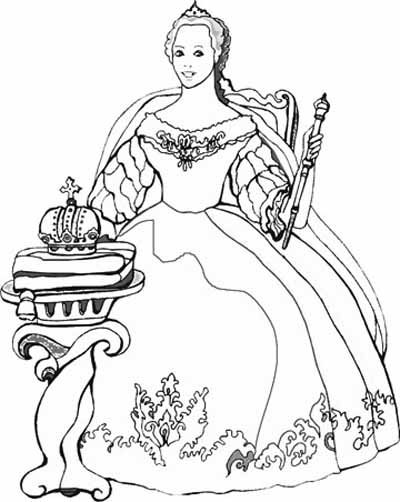 Princess Coloring Page 4