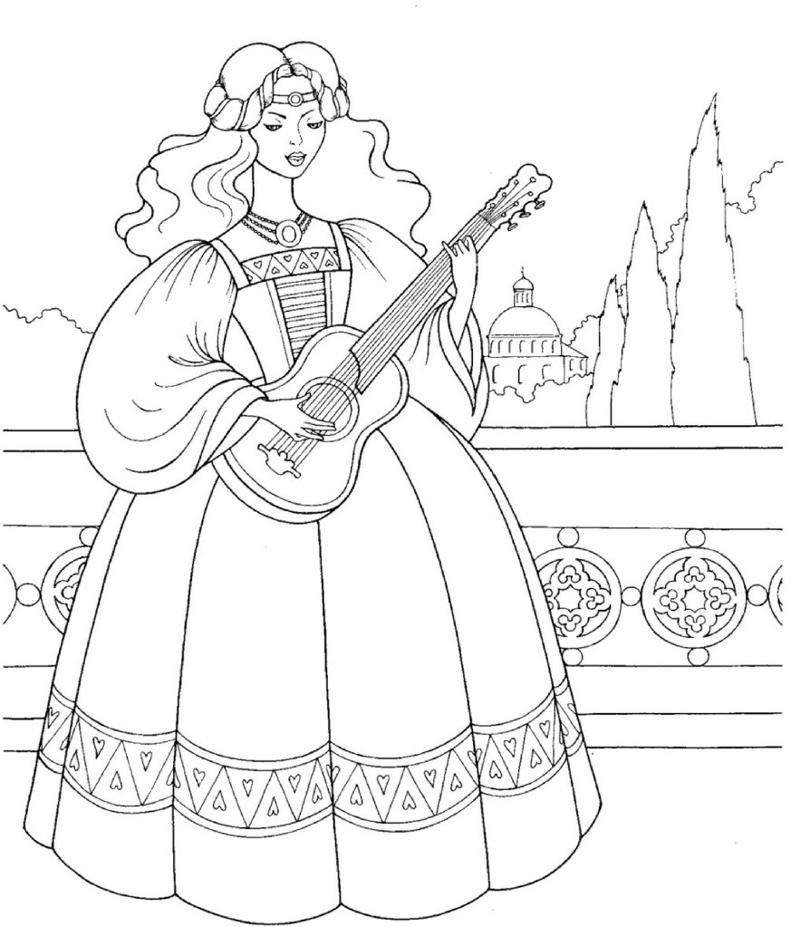 Princess Coloring Page 5
