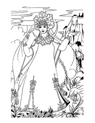 Princess Coloring Page 6