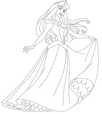 Princess Coloring Page 7