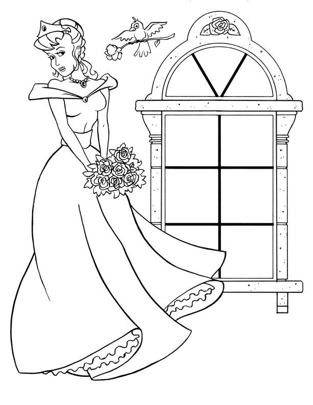Princess Coloring Page 9