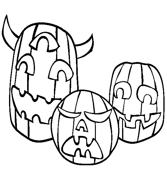 Pumpkin Coloring Page 4