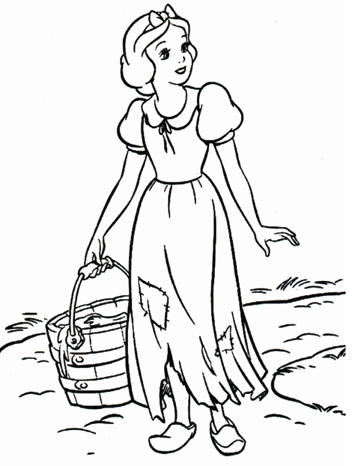 Snow White Coloring Pages 9