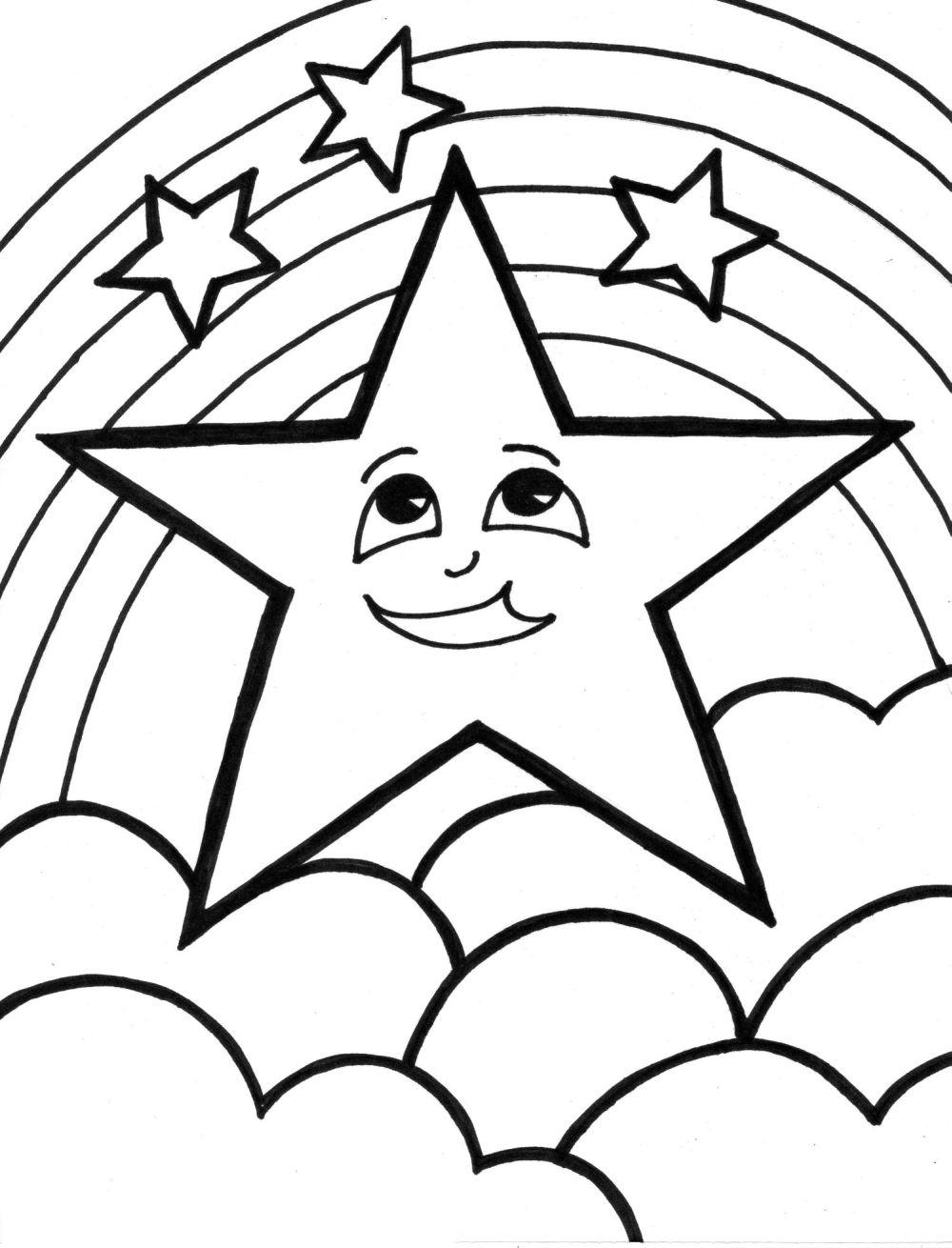 Star Coloring Page 1